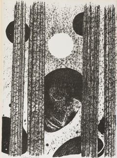 Cantique des Colonnes, Felice Casorati (post-war abstract Lithograph)