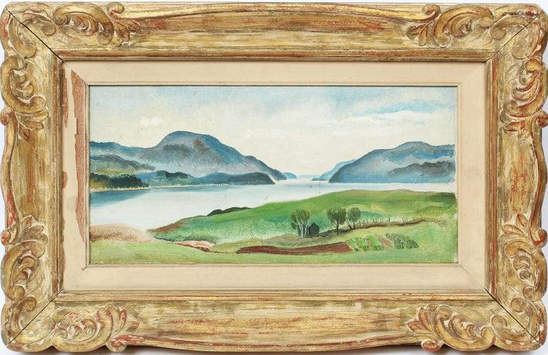 Felicie Howell Landscape Painting - Antique American Female Impressionist St. David's Bermuda Harbor Oil Painting