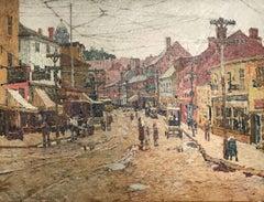 Main Street, Gloucester, by Felicie Waldo Howell (1897-1968, American)