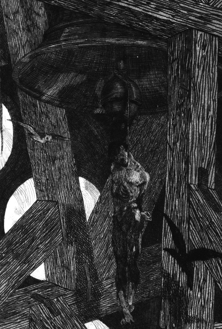 Le Pendu (The Hanged Man) - Original Etching by Félicien Rops - 1868 For Sale 1