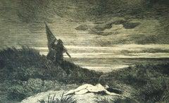 Le Werwolf  - Original Etching by Félicien Rops - 1868