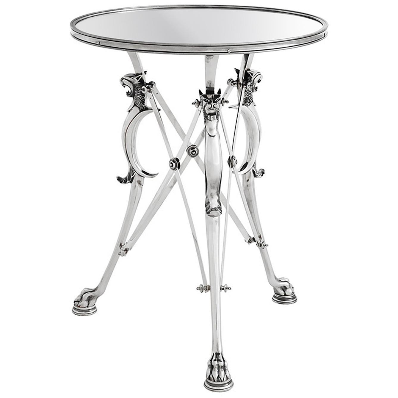 Feline Side Table in Silver Finish