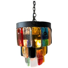 Felipe Delfinger for Feders Mexican Modernist Brutalist Hanging Pendant Lamp