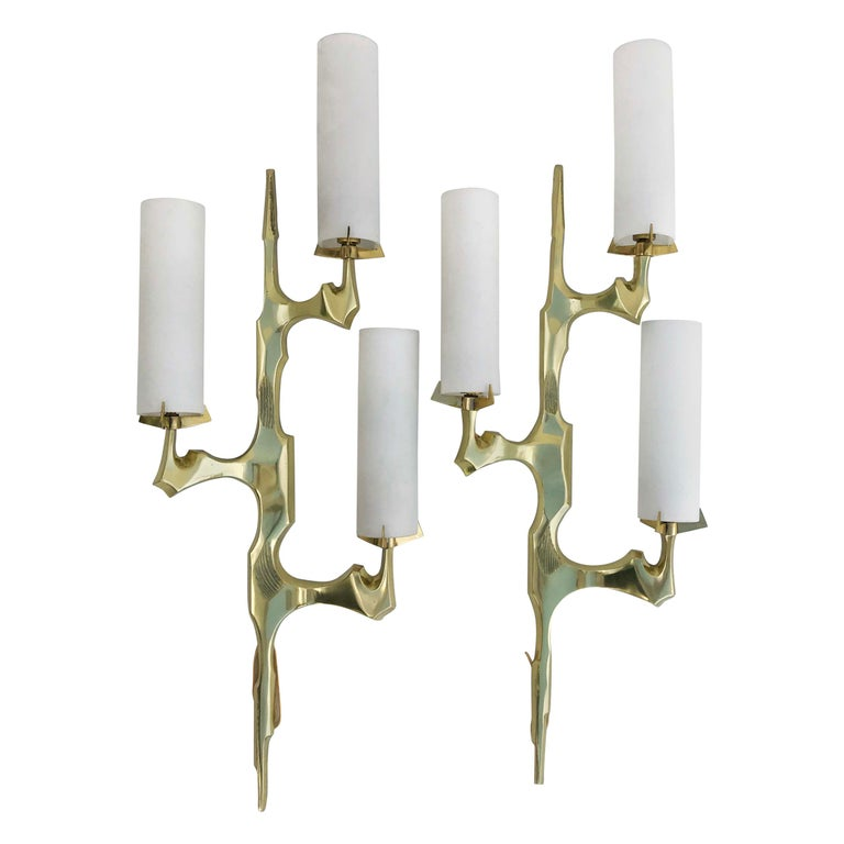 Felix Agostini for Maison Arlus Pair of Sconces For Sale
