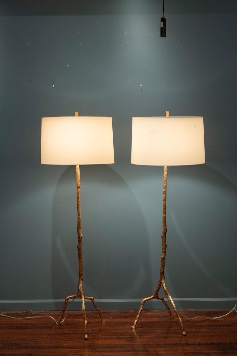 Felix Agostini Style Tree Branch Form Floor Lamps In Good Condition For Sale In San Francisco, CA