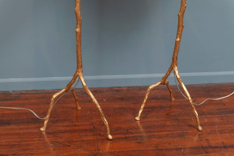 Contemporary Felix Agostini Style Tree Branch Form Floor Lamps For Sale