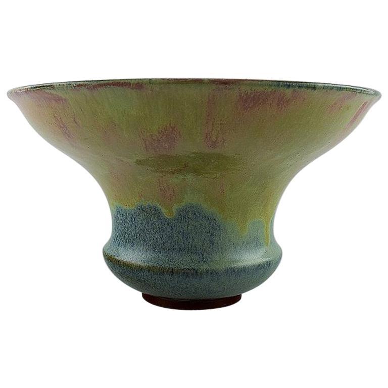 Felix-Auguste Delaherche. French Ceramist, Large Art Deco Vase For Sale