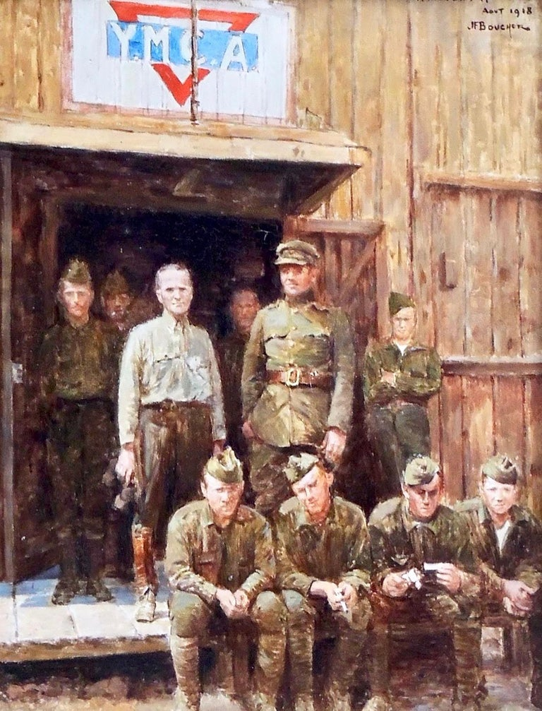 Félix Bouchor Figurative Painting - American Soldier YMCA
