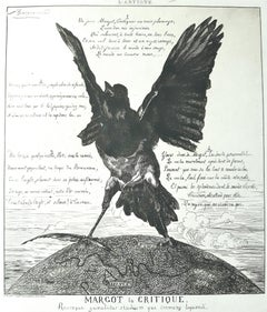 Margot La Critique - Etching, Aquatint and Drypoint by F. Braquemond - 1854