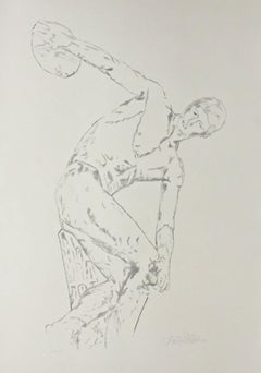 Discus Thrower, Limited Edition Litho w/ Graphite Ink, Felix de Weldon - LARGE