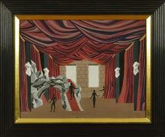 Maquette de Théâtre by FÉLIX LABISSE - Surrealist Art, Theatre Scene, Gouache