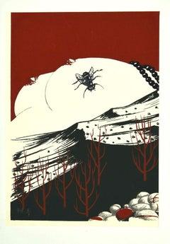Fly - Original Screen Print y Félix Labisse - 1970s