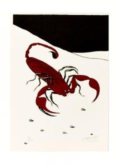 Scorpion - Original Screen Print y Félix Labisse - 1970s