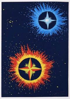 Stellar Composition - Original Screen Print y Félix Labisse - 1970s