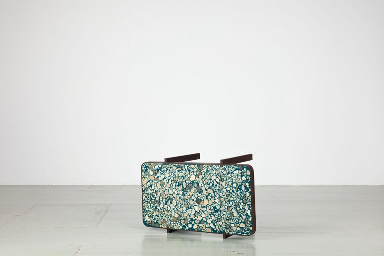 Duke Maria  Felix Muhrhofer´s Duke series features uncomplicated constructions out of corroded steel which immediately remind of the simplistic designs of 1920s Oceanliners. The material with it´s surface texture become the defining element, a