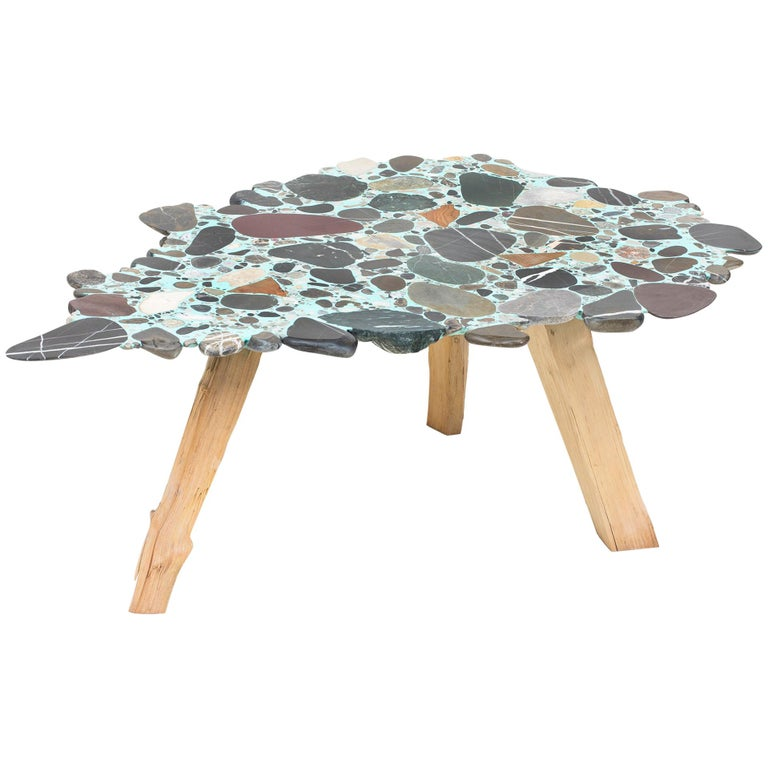 "Felix Muhrhofer ""Wild Ariane"" Terrazzo Table For Sale"