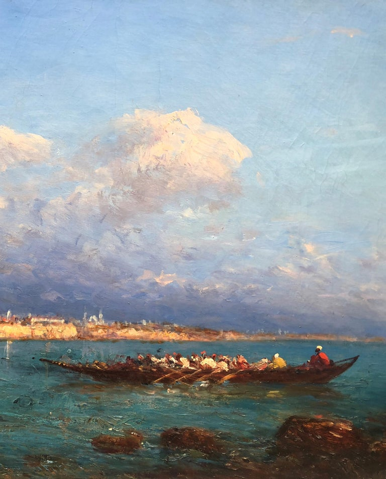 19th Century Impressionist Oil Painting 'View of Constantinople' Felix Ziem For Sale 1