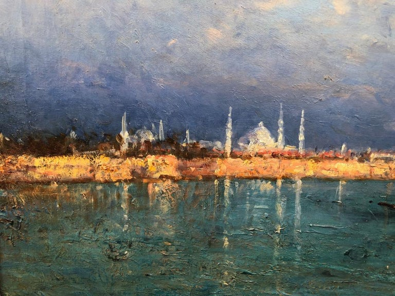 A View of Constantinople - Impressionist Painting by Felix Ziem