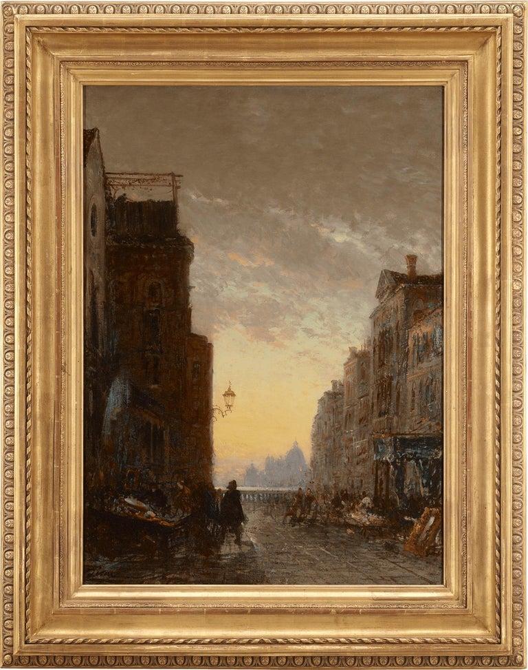 Market Place, Venise - Painting by Felix Ziem