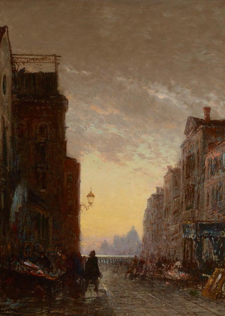 Felix Ziem Landscape Painting - Market Place, Venise