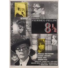 """""""Fellini 8½"""" Original Italian Film Poster"""