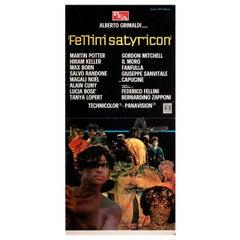 """Fellini Satyricon"" 1970 Italian Locandina Film Poster"