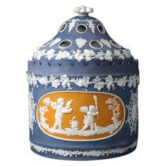 Felsparic Jasperware Bough or Crocus Pots Made by Daniel Steel, England, 1810