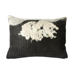 Felted Wool B&W Wensleydale Pillow, Medium, Heritage Sheep Collection