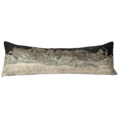 Felted Wool Grey Wensleydale Body Pillow - Heritage Sheep Collection