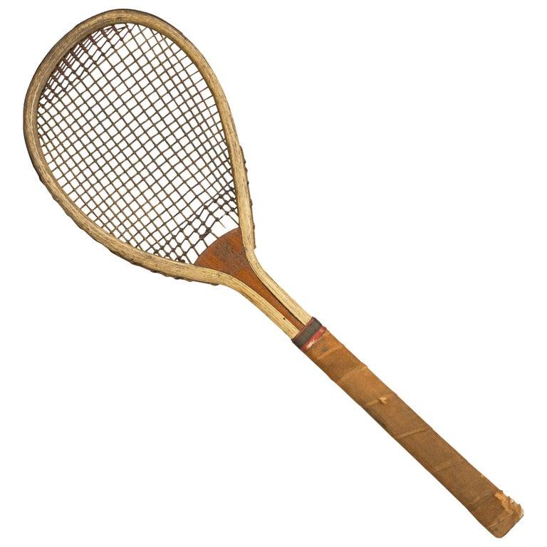 Tennis Racquet Sale >> Feltham Lawn Tennis Racket Lop Sided Tear Drop Shape