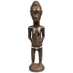 1st Half 20th Century Female Baule Figure, Ivory Coast, Africa