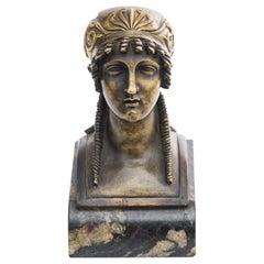 Female Bust, Empire Cabinet Sculpture, Ormolu, 20th Century