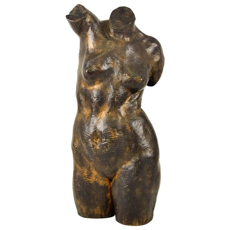 Female Bust Sculpture, by Aurelio Mistruzzi, 1930s For Sale