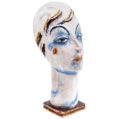 Female Head Gudrun Baudisch Wiener Werkstätte 1928 Marked