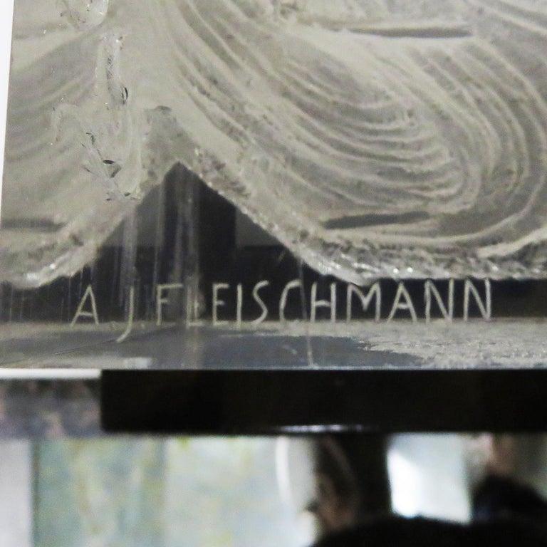 Female Head Lucite Carving by Arthur Fleischmann For Sale 2