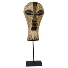 """Female"" Kifwebe Ceremonial Mask, Songye Tribe of Zaire Africa circa Early 1900s"