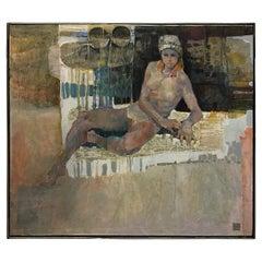 Female Nude Oil on Canvas by Lau Chun