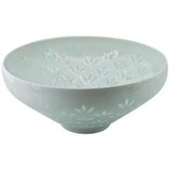 Female Scandinavian Design Chinese Patterned Porcelain Centerpiece Bowl, Finland