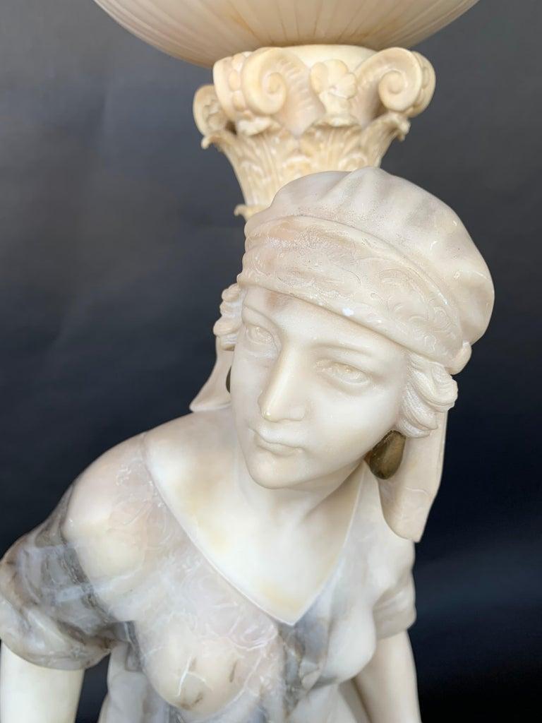 Female Sculptural Torchère Lamp For Sale 4