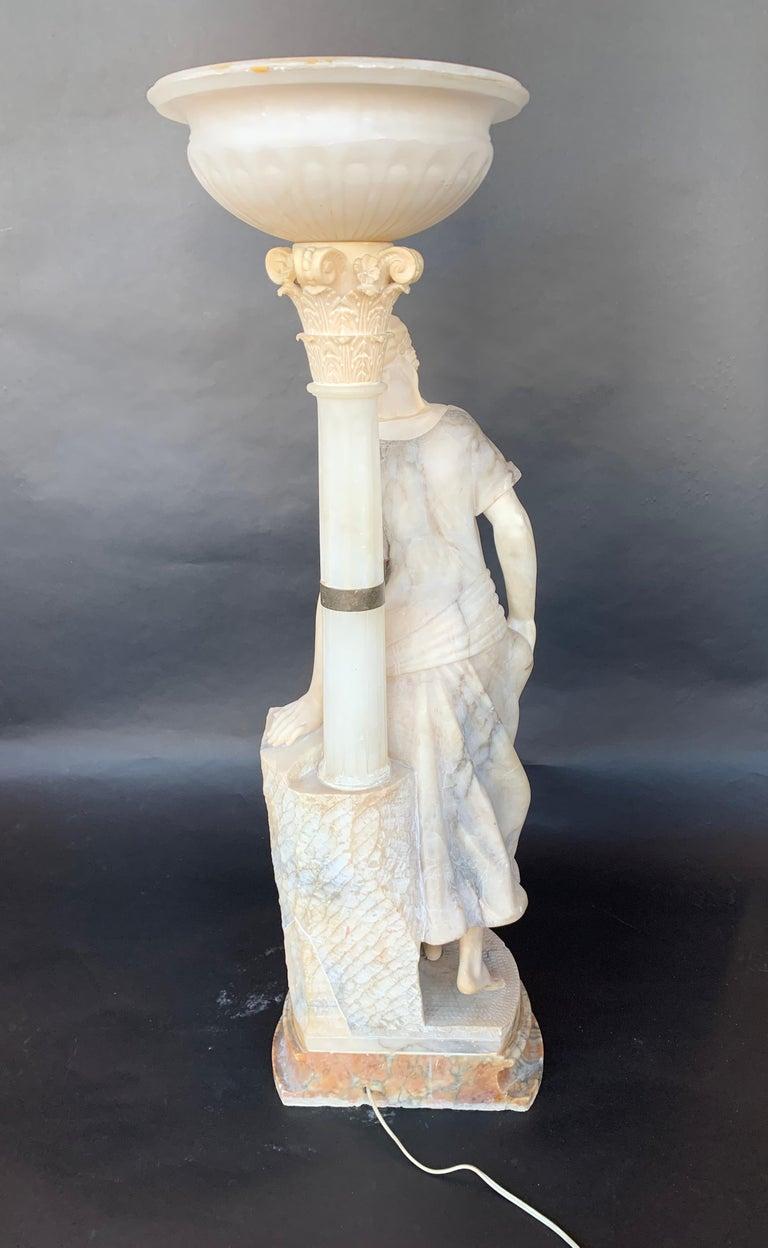 Female Sculptural Torchère Lamp For Sale 1
