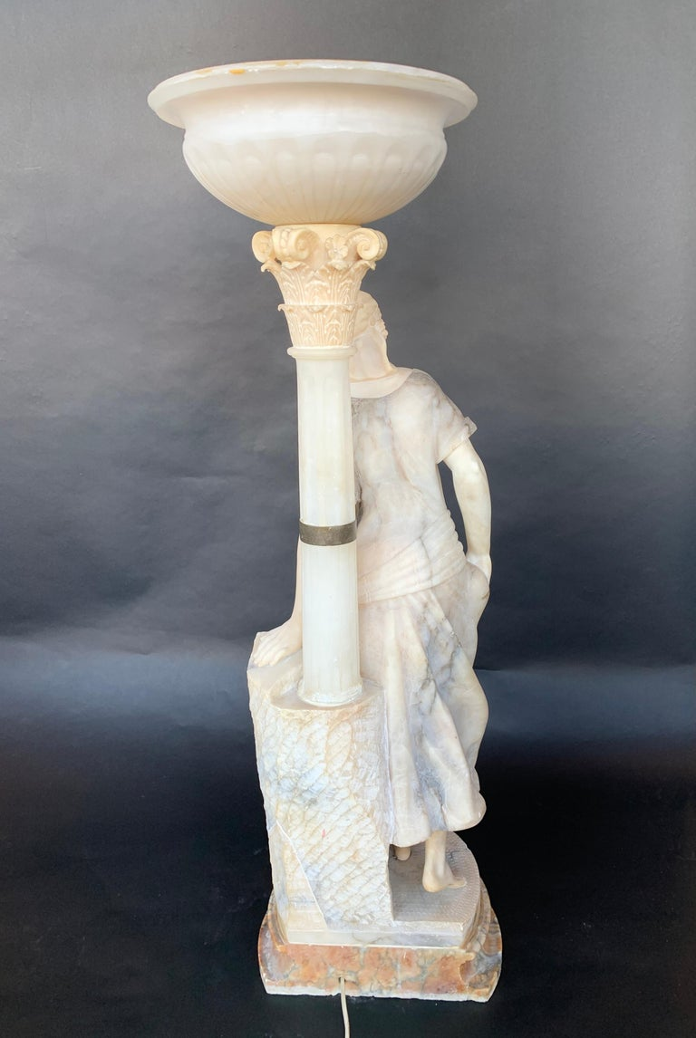 Female Sculptural Torchère Lamp For Sale 2
