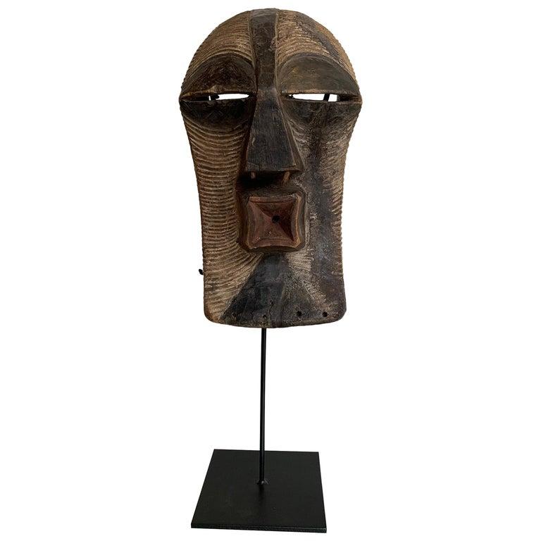 Female Songye Kifwebe Hand Carved Ceremonial Mask