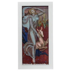 'Femme A La Biche' by Paul Mantes