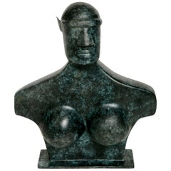 Femme Hermès Bronze Sculpture