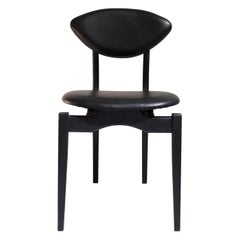 Femur Black Dining Chair in Walnut and Leather 'Set x 6' by Atra
