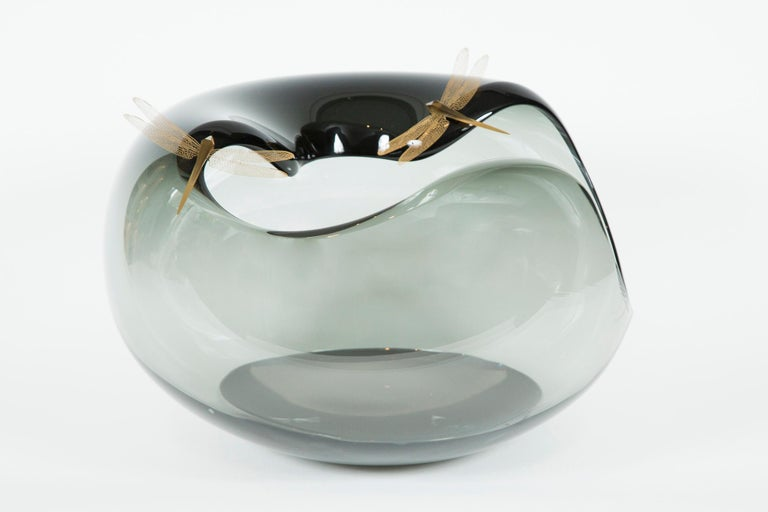 Art Glass Fen I Glass Sculpture and Centrepiece by Hanne Enemark For Sale