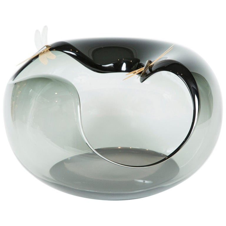 Fen I Glass Sculpture and Centrepiece by Hanne Enemark For Sale