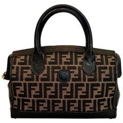 Fendi 1990's Brown Mini Logo Bag