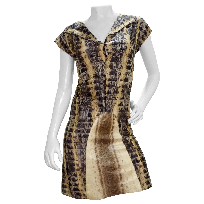 Fendi 1990s Python Mesh Dress