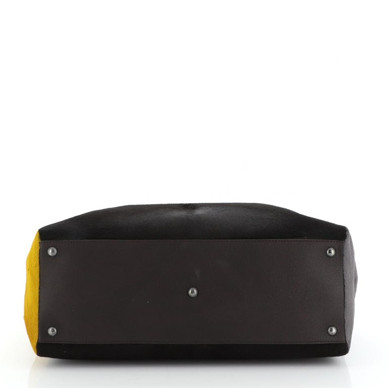 Fendi 2Jours Bag Calf Hair Large In Good Condition In New York, NY